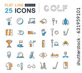 set line icons with open path... | Shutterstock . vector #631959101