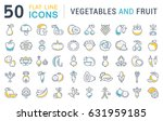 set line icons in flat design... | Shutterstock . vector #631959185