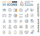 set line icons in flat design... | Shutterstock . vector #631959374