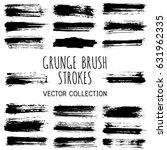 ink or paint brush stripes... | Shutterstock .eps vector #631962335