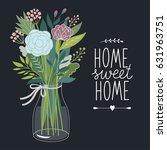 bouquet of flowers | Shutterstock .eps vector #631963751