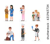 people of different home care... | Shutterstock . vector #631965734