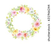 painted watercolor composition... | Shutterstock . vector #631966244