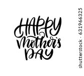 happy mother's day.hand drawn... | Shutterstock .eps vector #631966325