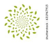 abstract round leaves pattern...   Shutterstock .eps vector #631967915