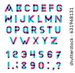 alphabet set fun geometric font.... | Shutterstock . vector #631968131