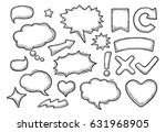 set speech and thought bubbles. ... | Shutterstock .eps vector #631968905