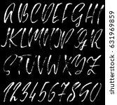 hand drawn dry brush font.... | Shutterstock .eps vector #631969859