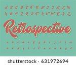 retro character set  vector... | Shutterstock .eps vector #631972694