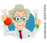 illustration of a scientist... | Shutterstock .eps vector #631973351