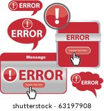 error announcment banner or... | Shutterstock .eps vector #63197908