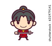 samurai character | Shutterstock .eps vector #631979141