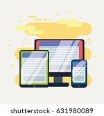 responsive web design in... | Shutterstock .eps vector #631980089