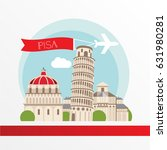 pisa detailed silhouette.... | Shutterstock .eps vector #631980281