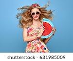 fashion beauty woman in summer... | Shutterstock . vector #631985009