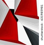 low poly geometric 3d shape... | Shutterstock .eps vector #631985981