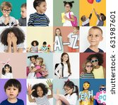 Diversity Kids Collage Collection Adorable - Fine Art prints
