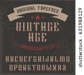 handcrafted 'vintage age' font... | Shutterstock .eps vector #631988129
