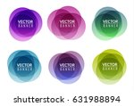 Set Of Colorful Round Abstract...