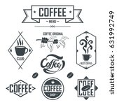 set of coffee label and banner... | Shutterstock .eps vector #631992749
