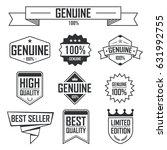 set of genuine and premium... | Shutterstock .eps vector #631992755