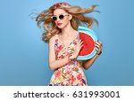 fashion beauty young woman in... | Shutterstock . vector #631993001