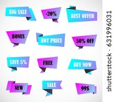 vector stickers  price tag ... | Shutterstock .eps vector #631996031
