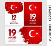 19 mayis ataturk'u anma ... | Shutterstock .eps vector #632009864