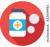 medicine jar vector icon | Shutterstock .eps vector #632009981