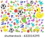 children patterns seamless...   Shutterstock .eps vector #632014295