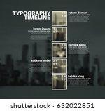 vector infographic typographic... | Shutterstock .eps vector #632022851