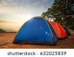 camping nature mountain... | Shutterstock . vector #632025839