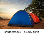 camping nature mountain... | Shutterstock . vector #632025845