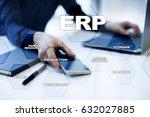enterprise resources planning... | Shutterstock . vector #632027885