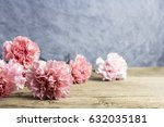 mothers day concept of pink... | Shutterstock . vector #632035181