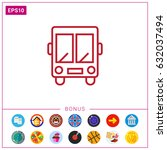 shuttle bas | Shutterstock .eps vector #632037494