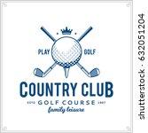 vector golf club logo. | Shutterstock .eps vector #632051204
