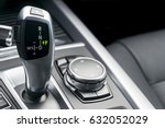automatic gear stick of a... | Shutterstock . vector #632052029