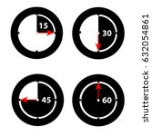clock showing minutes on white... | Shutterstock .eps vector #632054861