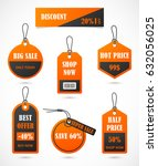 vector stickers  price tag ... | Shutterstock .eps vector #632056025
