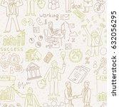business people doodle. hand... | Shutterstock .eps vector #632056295