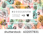 hand drawn vector abstract... | Shutterstock .eps vector #632057831