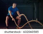 young athlete man is training... | Shutterstock . vector #632060585