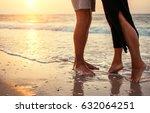 couple in love on the sunrise... | Shutterstock . vector #632064251