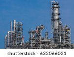 industrial view at oil... | Shutterstock . vector #632066021
