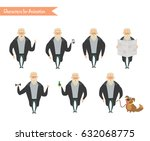 grandfather character for... | Shutterstock .eps vector #632068775