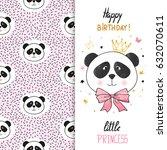 birthday greeting card design... | Shutterstock .eps vector #632070611
