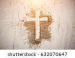ash wednesday cross  crucifix... | Shutterstock . vector #632070647