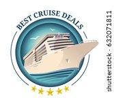 best cruise deals illustration. ... | Shutterstock .eps vector #632071811