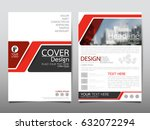 red flyer cover business... | Shutterstock .eps vector #632072294